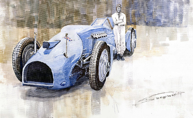 1933 Campbell at Daytona by Yuriy Shevchuk