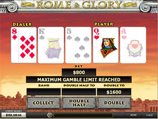 Rome & Glory Gamble Feature