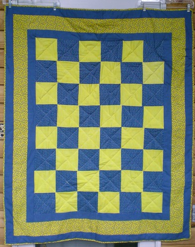"Blue & Yellow squares 48 x 58"" -SVQ"