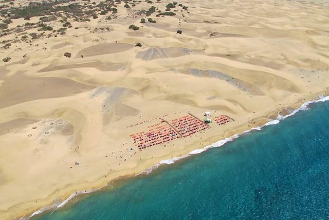"""Fotos Aéreas de Las Dunas de Maspalomas. """"La Costa Turística de San Bartolomé de Tirajana"""" Gran Canaria"""