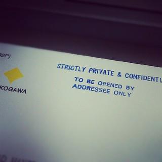 Setelah lebih enam bulan mula bekerja, baru hari ni dapat surat pengesahan dalam jawatan.
