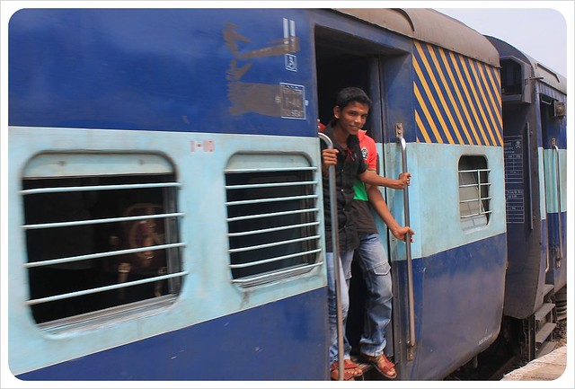 indian train with boys