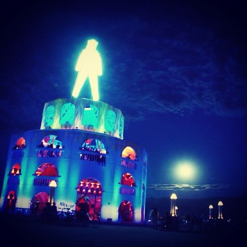 The #burningman at night #burningman2012 #latergram