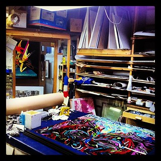 In the lab. Fleet galleries. #winnipeg #framing #art #love