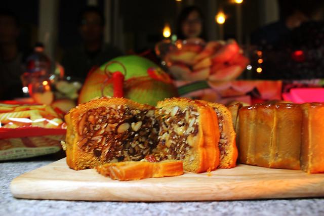Baked Mooncake with Mixed Nuts and Jamón ibérico