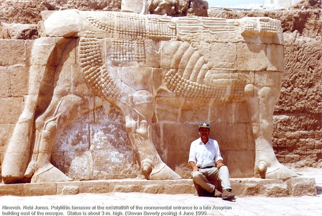 Late Assyrian lamassu at Nebi Yunus, Mosul, Iraq.