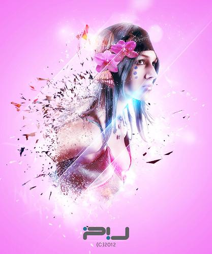 """Glittering Beauty"" - Digital Art Photomanipulation - PV Design (C) Pablo Alejandro Vazquez 2012"