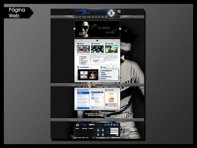Página Web para Dj Luxar Jost