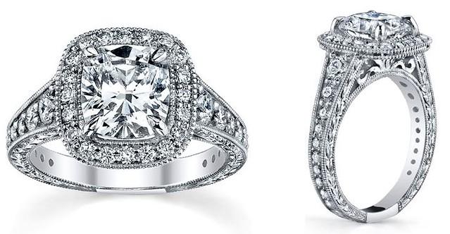 Custom Engagement Rings Cushion Cut Graduated Diamonds Flickr