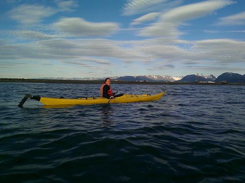 Kayaking around the Spit
