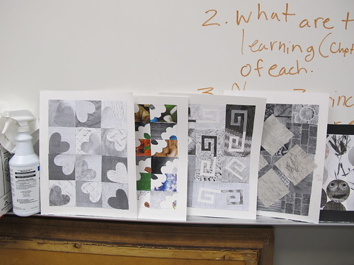 Texture/Pattern Quilts by Students in my Art Ed. Course