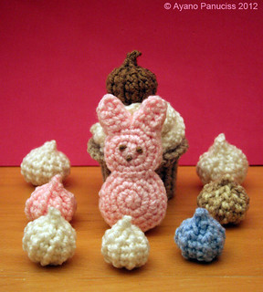 crochet peeps bunny with sweets