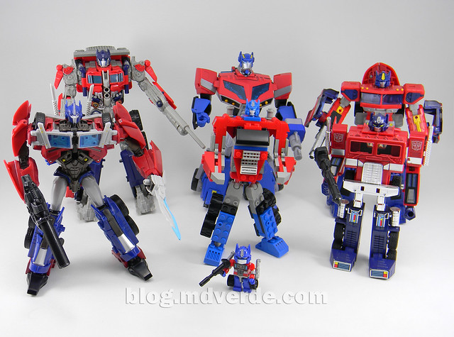 Transformers Optimus Prime Kre-O - modo robot vs otros Optimus