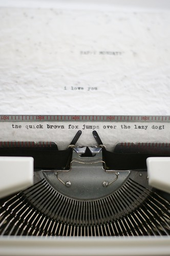 typewriter by wood & wool stool