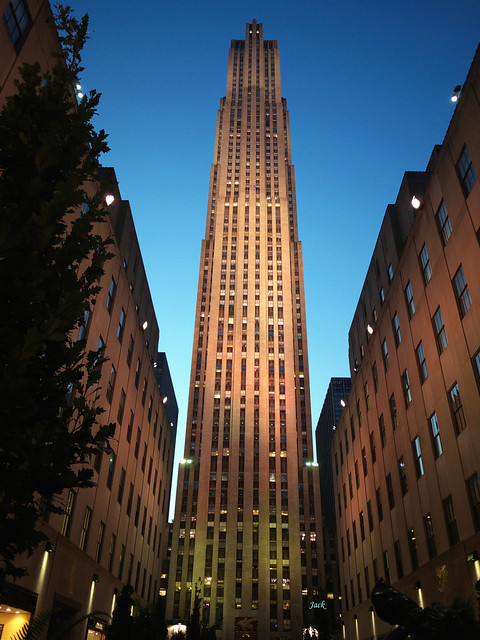 End of the day - Rockefeller center