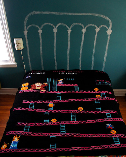 Donkey Kong Blanket, The Barrels Level