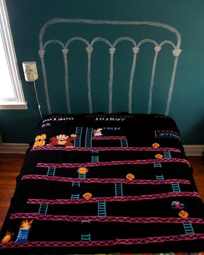 Donkey Kong Blanket, The Barrels Level