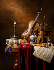 Musical Still Life with the 5 senses.