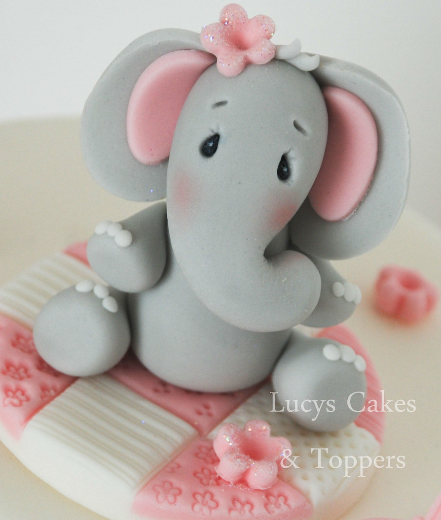 elephant cake topper christening birthday a photo on flickriver