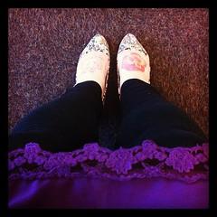 Lace & floral sequins. #showyourshoes