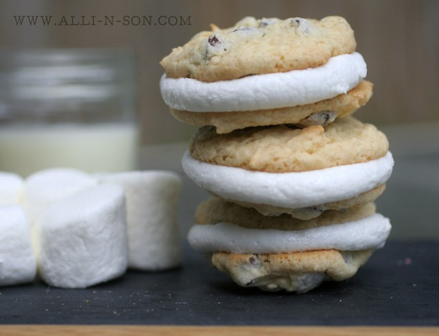 Cake-Mix Chocolate Chip Marshmallow Sandwich Cookies