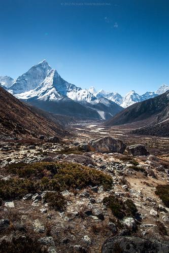 nepal mountain trekking himalaya khumbu himalayas 2012 amadablam periche khumburegion sagarmathanationalpark pichayaviwatrujirapong