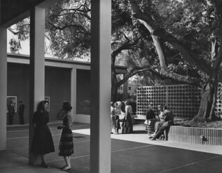 Students at the Montgomery Art Center (predecessor to the Pomona College Museum of Art) in 1959