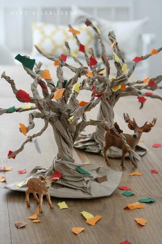 Papiertütenbäume