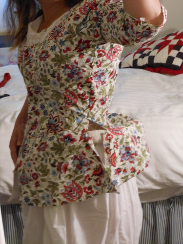 Short Gown in Progress