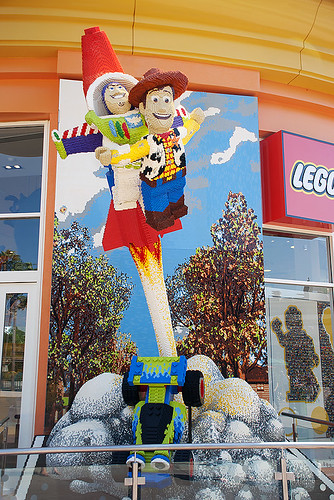Woody and Buzz in Lego!