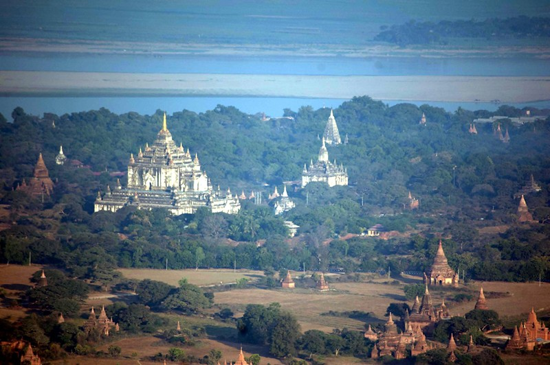 Ancient Bagan from the air