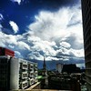 Dramatic skies from our terrace