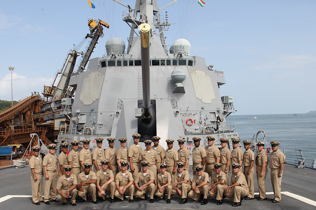 USS Gridley Welcomes New Chief Petty Officers