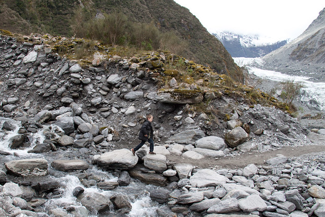 Walking to Fox Glacier