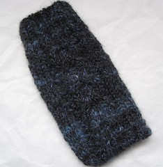 Phone Cozy - handknit from handspun yarn