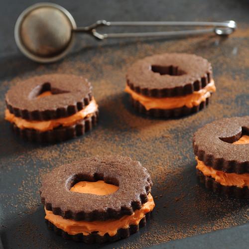 Halloween Linzer Cookies