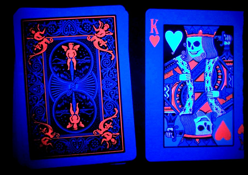 Tragic Royalty blacklight playing cards
