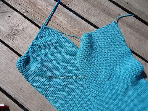 Garter stitch scarf WIP