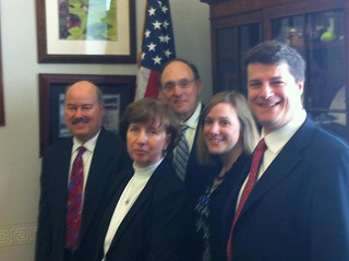Representative Roe (1st District) with TPT delegation in 2012