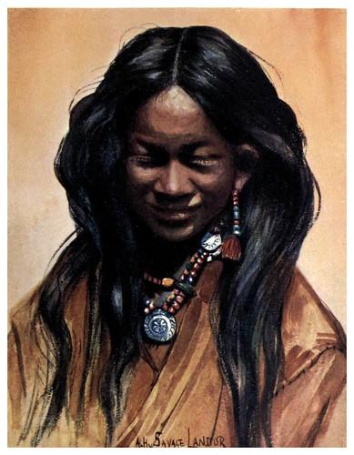 007-Joven tibetana-Tibet & Nepal-1905-A. H. Savage-Landor