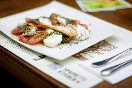 Caprese salad at Spaghetti Kitchen, Sofia