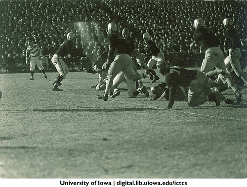 Iowa-Notre Dame football game, The University of Iowa, November 11, 1939