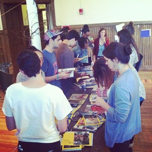 Zine making at University of Michigan