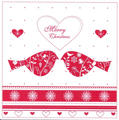 Merry Christmas Cancer Research UK Card 2012