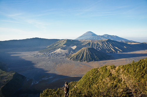 Mount Bromo in morning sun