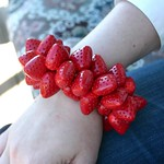 DIY strawberry charm bracelet
