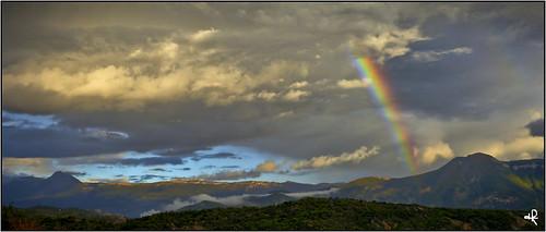 sunset mountain france clouds montagne alpes rainbow europe provence nuages coucherdesoleil arcenciel
