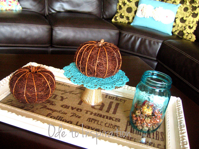 Fall Table Centerpiece Frame Tray Flickr Photo Sharing