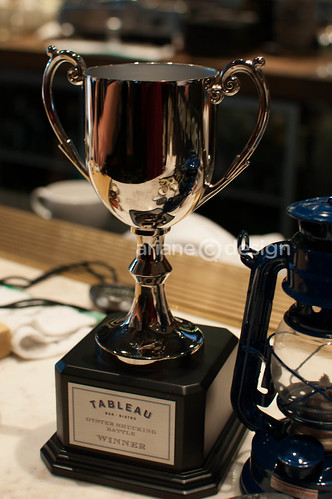 Tableau Bistro Oyster Shucking trophy