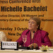 UN Women Executive Director Michelle Bachelet briefs members of the press in new New Delhi on her first official visit to India as head of the agency